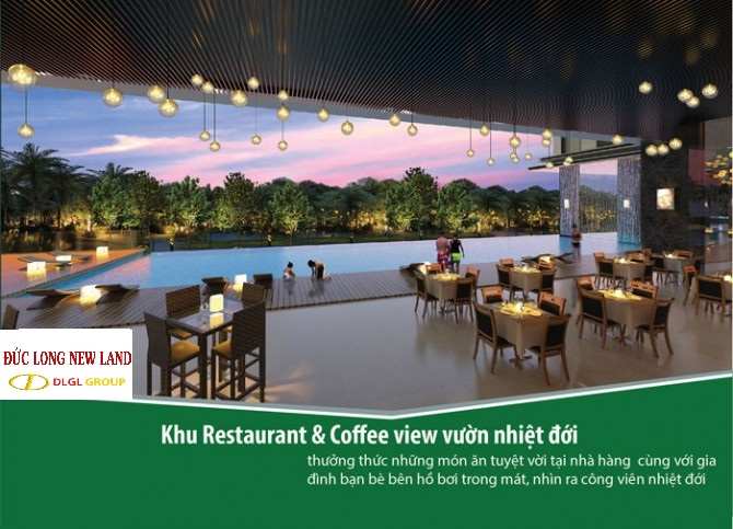 nhà hàng tại dự án đức long new land