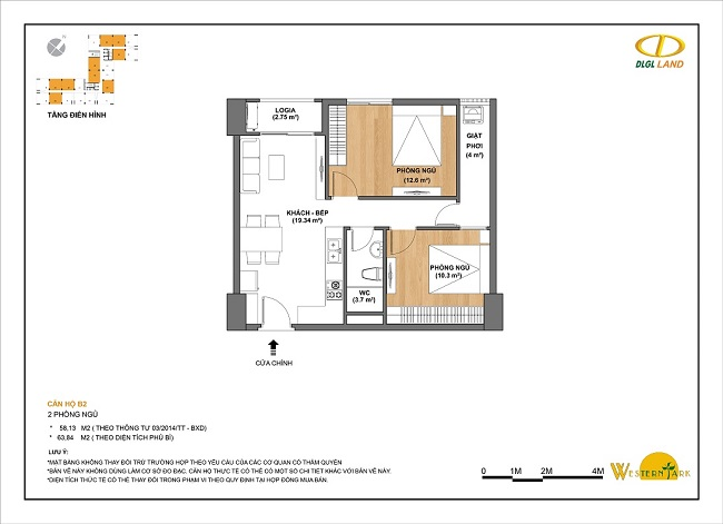 Thiết kế căn hộ B2