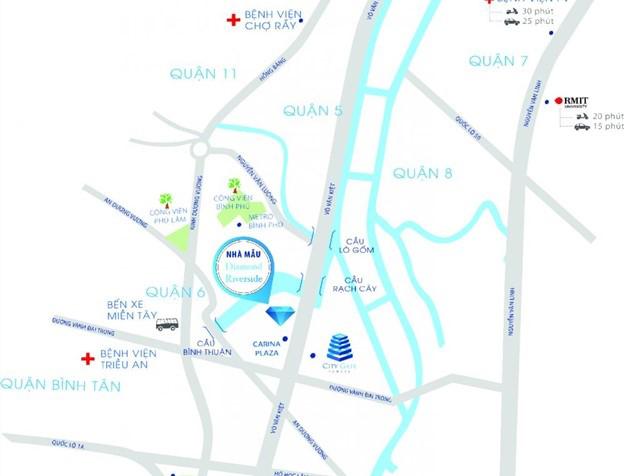 Vị trí đắc địa của dự án Diamond Riverside (City Gate 2)
