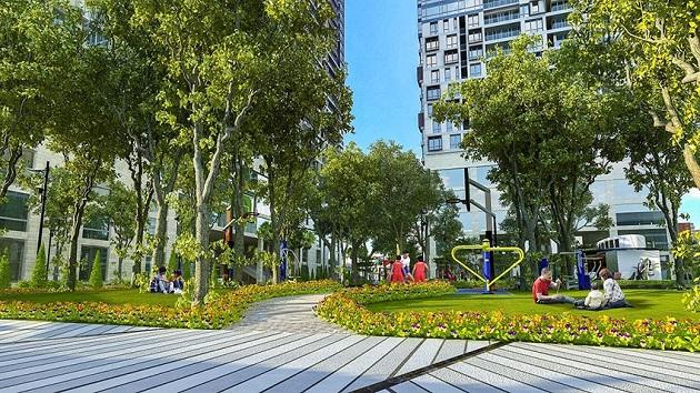 Công viên cây xanh, khu tập thể dục và vui chơi giải trí