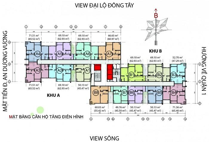 mat bang căn hộ The Avila